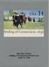 #UX109 14c Settling of Connecticut Postal Card First Day Ceremony  Program