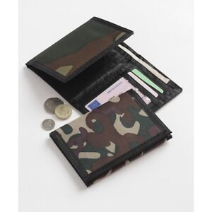 Mens Boys Green Camouflage Pattern Bi Fold Wallet - Brand New