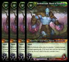 4x Archimonde Hand of Sargeras Caverns of Time Treasure Epic 53 WoW TCG Foil