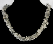 """4x8mm Natural Rutilated Nugget Necklace 20"""""""