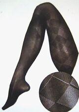 Berkshire Premium Trend Benefits Argyle Black Pantyhose Size 1-2