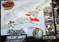 New Air Hogs Radio-Controlled Hawk Eye Blue Sky Plane White Red RC Toy Air Plane