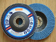 "100pcs Flap Disc 4-1/2""x7/8"" Zirconium 80 Grit for Stainless Steel & Metal"