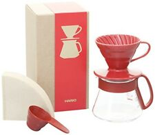 Hario V60 Coffee Dripper and Pot Set VDS-3012R Free Shipping
