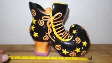 New listing Beautiful Halloween Cookie Jar Witch Shoe