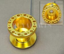 Gold Billet Aluminum 6 Bolt Steering Wheel Hub Adapter For Subaru Legacy 90-14
