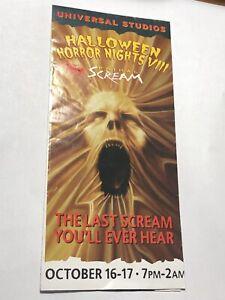 RARE Universal Studios Orlando Halloween Horror Nights VIII 1998 Event Guide Map