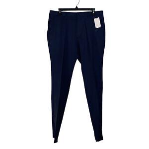 Hugo Boss Mens Blue Dress Pants 100% Virgin Wool Size 40 Business Meetings