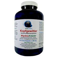Kopfgewitter, MigräneKräuter, 360 Pulver-Kapseln a 350mg, #25614