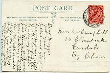 GREAT BRITAIN 1912 postcard GV 1d pmk GK & ARDRISHAIG PACK../A/COLUMBA cds