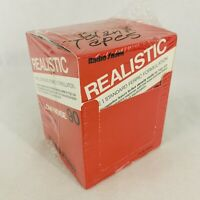 RADIO SHACK 12 BLANK CASSETTE TAPES REALISTIC LOW NOISE 90 MINS Complete Box