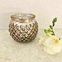 BULK BUY Rose Gold Glass Tea Light Holder Candle Votive Wedding Table Decoration