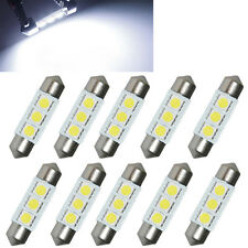10x 36MM White 3 LED 5050 SMD Festoon Dome Car Auto Light Interior Lamp Bulb 12V