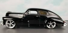 JADA DUB CITY 1947 CHEVROLET AEROSEDAN FLTEETLINE BLACK 1:24 + DISPLAY CASE