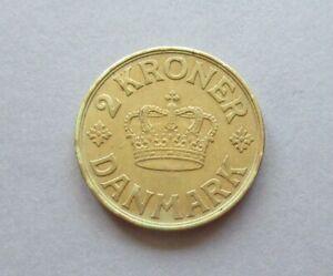 Dänemark 1939 , 2 Kronen Münze (Al-Bro)  P.42 , Erh. vz