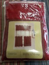Essence Curtain Red One 58 in. X 30 In Grommet Tier Pair