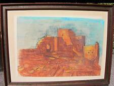 Jolie école fr les ruines indiennes aux USA,joli cadre signée Gérald Mazziotta
