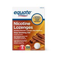 Equate Nicotine Lozenges, Cinnamon Flavor, 4mg, 108 Count