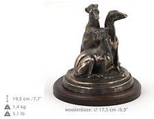 Whippets, Holz Statuette, Bronze, ArtDog, DE