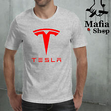 CAMISETA TESLA MOTORS ELECTRIC CAR COCHE RACING T-SHIRT CAMICIA