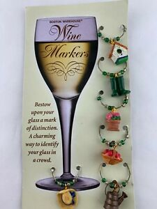 Wine Markers Boston Warehouse Country Style 6 ct. NEW