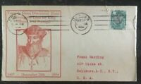 1934 South Africa First Day Cover FDC to Usa Vasco Da Gama Discovered