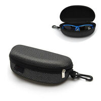NEW Portable Zipper Eye Glasses Sunglasses Clam Shell Hard Case Protector Box FT