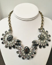 NWT Betsey Johnson Large Statement Cluster Black Bursts and crystal Necklace