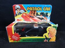 VINTAGE POLICE PATROL CAR PLASTIC BATTERY OPERATED BRAND NEW DYI JAPAN SEALED