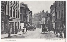 Yorkshire; York, Micklegatec 1900 PPC, Unposted Repro Card By County Library