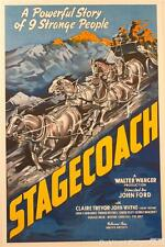 Stagecoach John Wayne Vintage Movie Poster Lithograph S2 Art