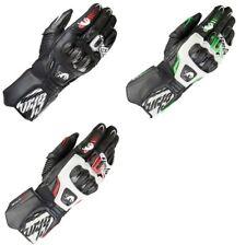 FURYGAN FIT-R2 White/Black/Red Leather Sports Racing Motorbike Gloves