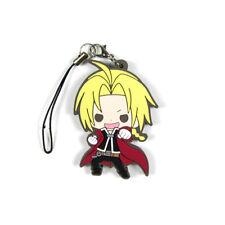 Hot Japan Anime Fullmetal Alchemist Edward Rubber Strap Keychain Pendant Gift