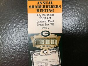NFL Green Bay Packers Annual Shareholders Meeting Ticket!  You Pick You Choose!*