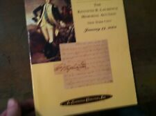 x-40  matthew bennet  kenneth  laurence auction catalog 2001  rare documents