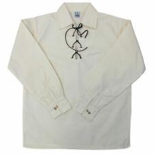 Homme Haute Qualité LUXE SCOTTISH Jacobites Ghillie Kilt Chemise en Blanc