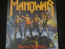 "Manowar ""Fighting The World"" LP. Blue Vinyl & gate-fold sleeve. RARE !"