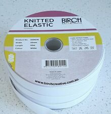 20mm Elastic - Knitted  - Birch Brand top quality black and white