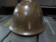 Military Surplus Combat Helmet Fiberglass OD Green Vintage 60s Era Collectors