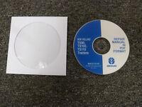 New Holland TS90 TS100 TS110 Agricultural Tractor Shop Service Repair Manual CD