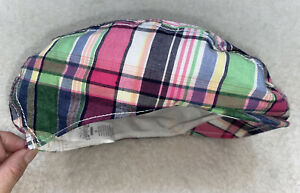 DRESSED UP BY GYMBOREE  CABBIE NEWSBOY STYLE CAP HAT! PLAID Size Small 6-8
