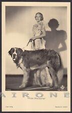 HILDE WEISSNER 02 ATTRICE ACTRESS SCHAUSPIELERIN MOVIE - CANE DOG Cartolina FOT.