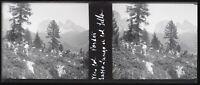 Italia Col Pordoi 1937 Montagne Negativo Foto Stereo Placca Da Lente VR12nd