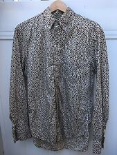 Gitman Vintage Leopard Print Oxford size Medium Made in USA
