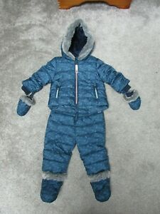 Ted Baker 3-6 months 2 piece snowsuit  waterproof coat trousers mittens + boots