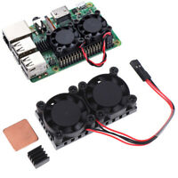 Heat Sink Double Cooling Fan Radiator Kits for Raspberry Pi 2B/3B/  Np