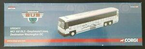 1/50 MCI 102 DL3-Greyhound Lines. Dest. Washington DC Diecast by Corgi US53411