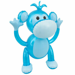 """24"""" Super Cute Blue Monkey Inflatable - Inflate Blow Toy Party Decorations"""