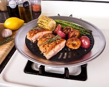 Smokeless Indoor Stove Top Grill - Nonstick BBQ Griddle Pan with Burner Liners