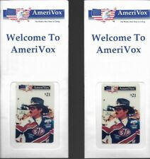(2) NASSCAR Richard Petty Phone Cards Lot